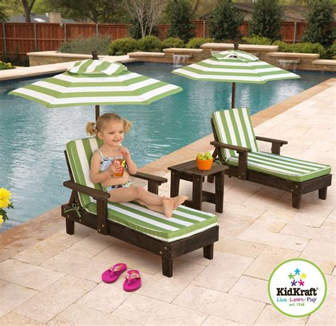 kidkraft chaise lounge kidkraft outdoor chaise lounge chairs and umbrella set