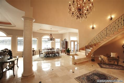 interior luxury homes interiores con grandes escaleras de lujo