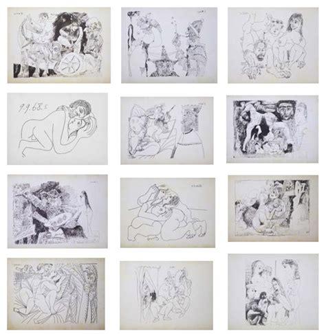 Picasso 1881 1973 D Apr 232 S Les Carnets Erotiques 1968