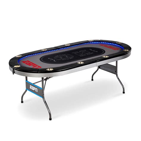 10 player table espn 10 player table with in laid led lights md