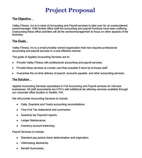 project design proposal writing project proposal outline template business
