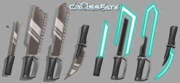 Cross fate melee weapons 1 by dkdevil on deviantart