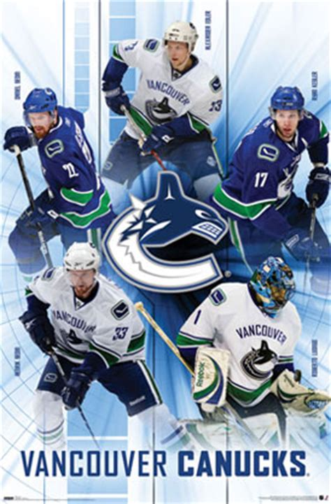 vancouver canucks hockey team player poster posters nhl vancouver canucks hockey team player