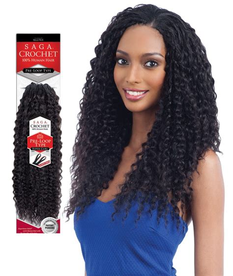 types of crotchet hair saga pre loop type 100 human hair crochet braid super