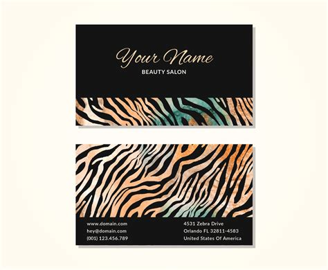 Zebra Print Business Cards Templates Free by Zebra Print Business Cards Image Collections Business