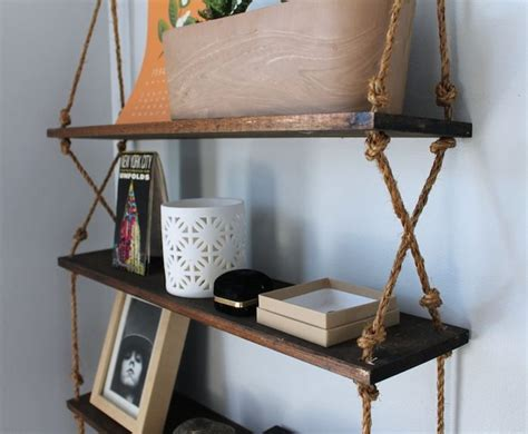 diy rope shelves the garden apt decorating