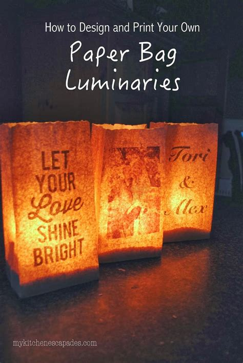How To Make Paper Luminaries - 25 best ideas about paper bag lanterns on
