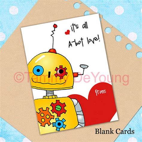 cards for classmates robot card valentines for printable diy