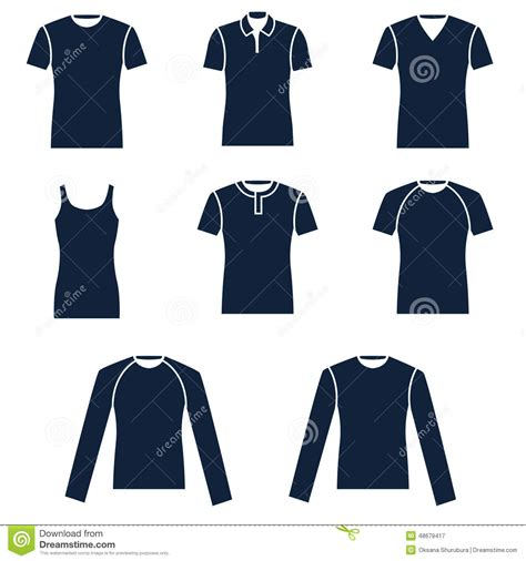 Different Designs Of Shirts Different Types Of S T Shirts Stock Vector Image