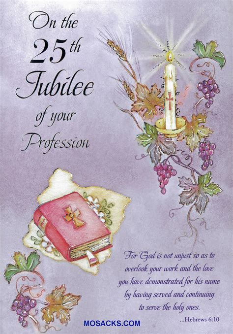 On The 25th Jubilee Of Your Profession Greeting Card