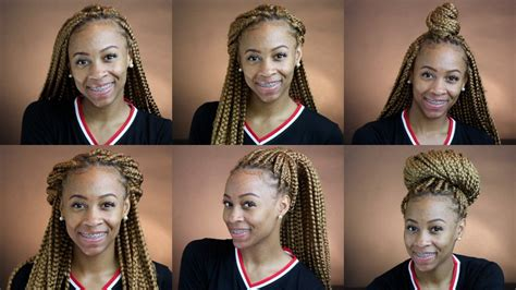 how to style your box braids youtube how to style box braids protective styling youtube