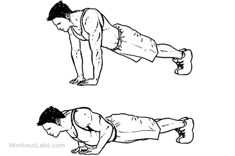 push up diagram home workout for beginners bodybuilding fitness for