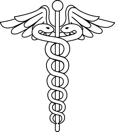 Caduceus Logo Coloring Page Wecoloringpage Coloring Pages Vector