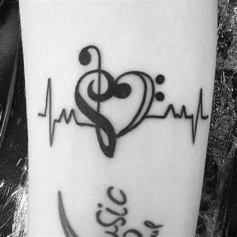music heartbeat tattoo collection of 25 beat