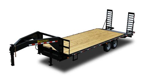 flat bed trailers standard 14000 gvwr flatbed gooseneck trailer by kaufman trailers