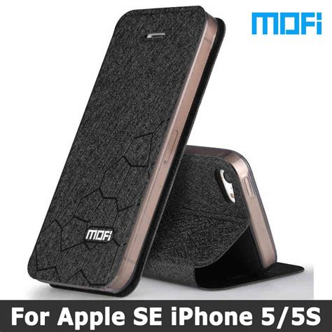 Ume Original Iphone 5 Se Softcase for iphone 5s original mofi brand for iphone se cover stand holde flip leather tpu