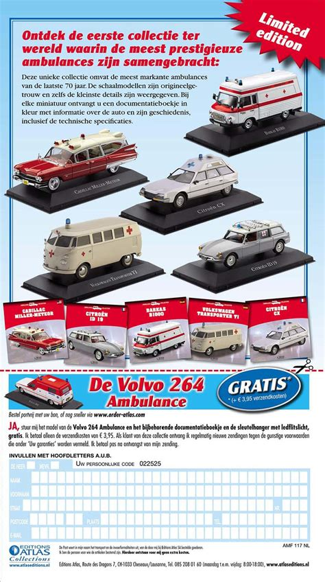 volvos   ambulance collection  editions atlas minivolvolu