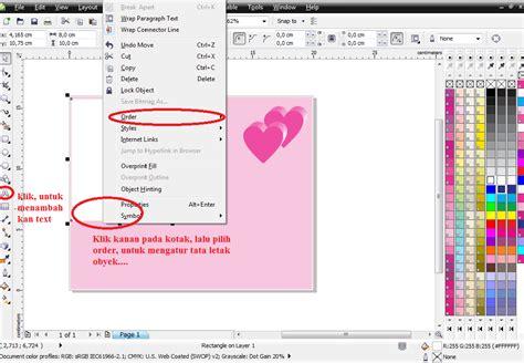 membuat kartu ucapan valentine dengan corel draw tutorial membuat kartu ucapan valentine