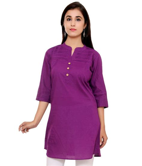 N1 Tenun Blouse Tunic buy indian virasat purple cotton tunics at best prices in india snapdeal