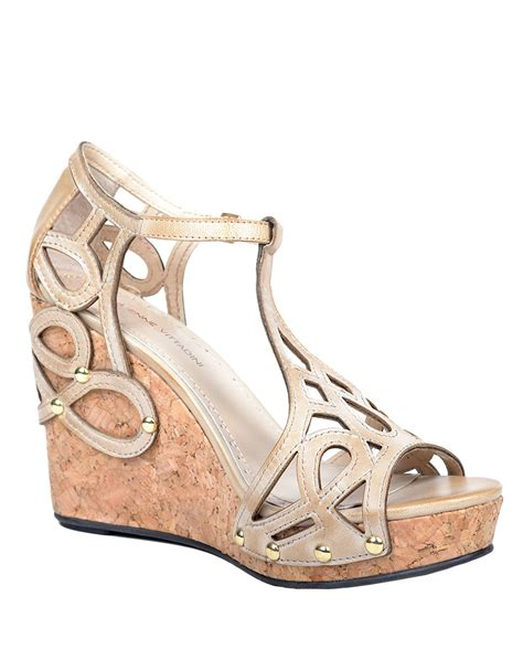 bone wedge sandals adrienne vittadini cinthian wedge sandals in beige bone