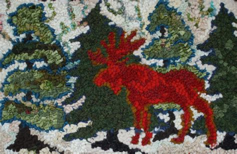 rug hooking patterns canada free shipping moose in the rug hooking pattern by deanne fitzpatrick from