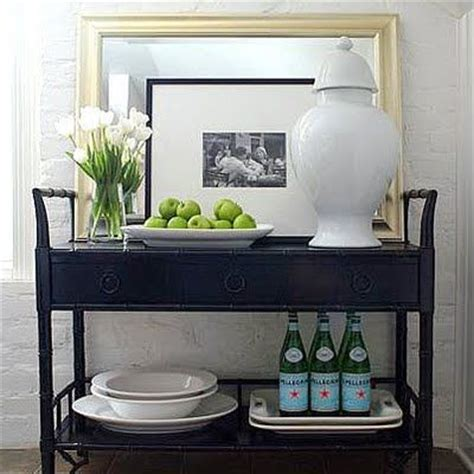 Dining Room Serving Carts This Vignette For A Corner In The Dining Room Home Serving Cart Trays And Bar