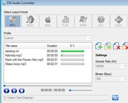 format audio untuk web fss audio converter aplikasi untuk mengkonversi audio ke