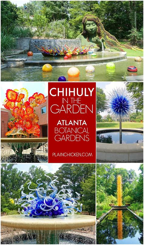Atlanta Botanical Gardens Tickets Chihuly In The Garden Atlanta Botanical Gardens Plain Chicken