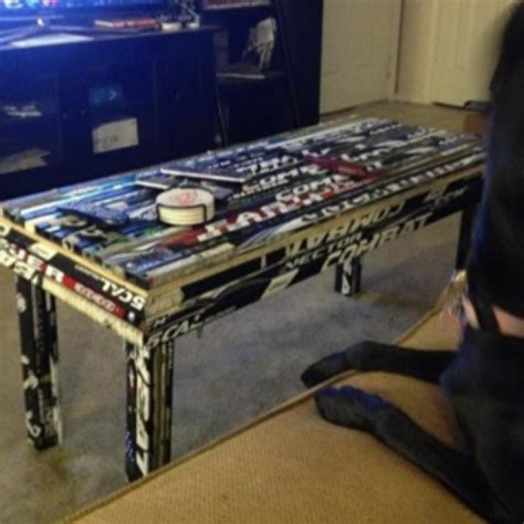 hockey stick coffee table pin by mcmonigal on basement ideas
