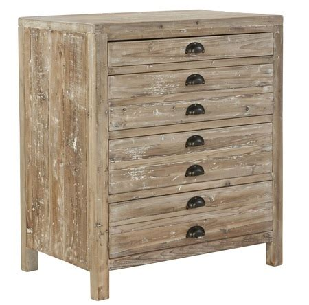 apothecary reclaimed wood  drawer small chest zin home