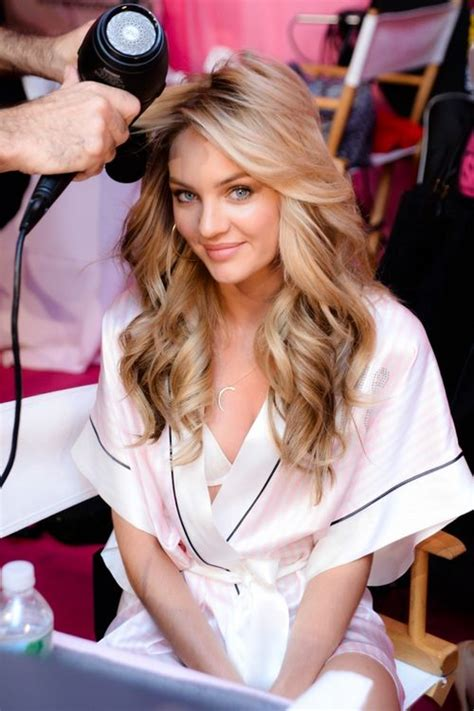 victorias secret haircuts candice swanepoel getting hair and makeup done at the