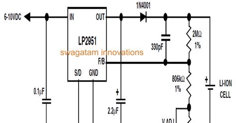 li ion battery charger circuit using ic lp2951