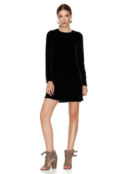 Velvet Mini Dress black velvet mini dress pnk casual
