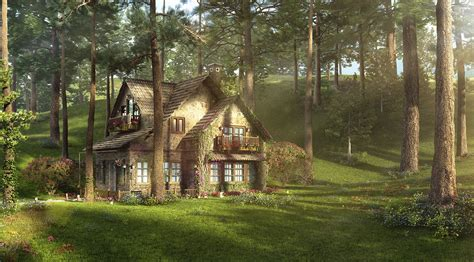 Cottage A Multiscatter 3ds Max In For V Mental