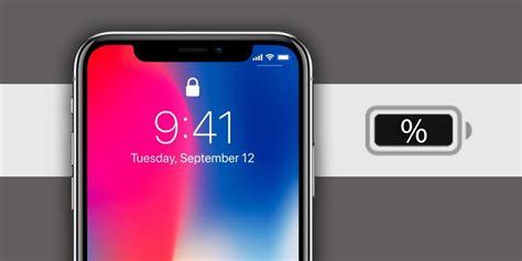 how to check the iphone x battery percentage