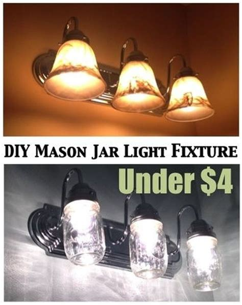 diy bathroom lighting diy mason jar light fixtures ideas pinterest