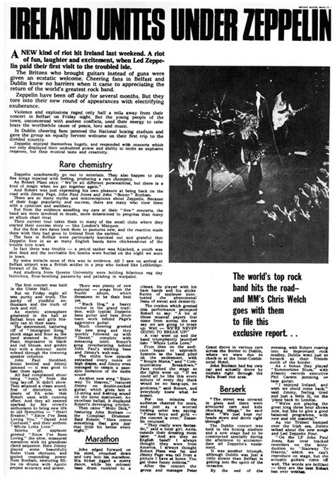 Lepaparazzi News Update Led Zeppelin To Play Comeback Concert by Ulster March 5 1971 Belfast Led Zeppelin