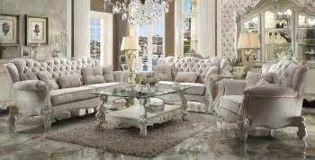 livingroom furniture set versailles traditional ivory velvet formal living room set