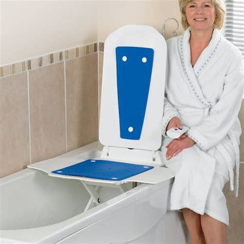 bathtub aids for the elderly bathmaster deltis bath lift with blue covers bathmaster