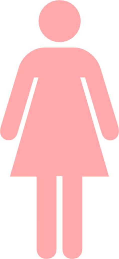 female bathroom symbol ladies bathroom symbol pale pink clip art at clker com