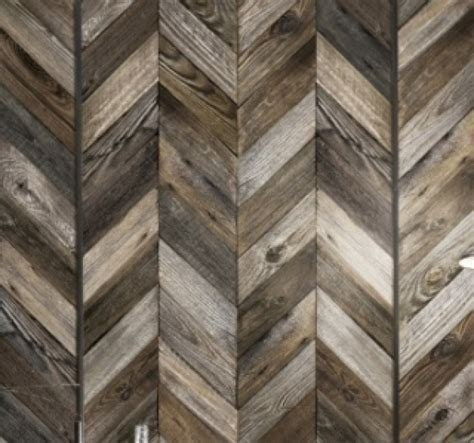chevron pattern reclaimed wood antique wood chevrontrompe l oeil wallpaper by couture d 233 co