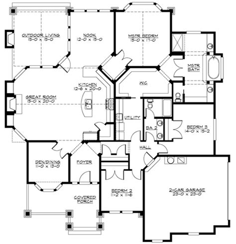 corner lot floor plans plan w23256jd corner lot northwest craftsman house
