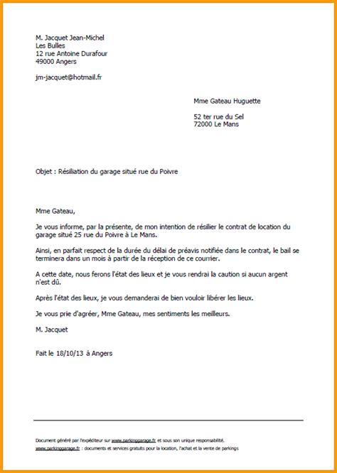 Pr Sentation Type Lettre Officielle sup 233 rieur bail location appartement non meuble 4 9