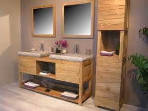 meuble vasque salle de bain bois