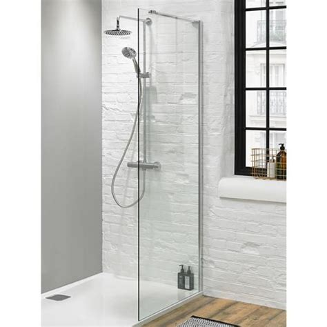 Glass Shower Panels For Bathrooms Walk In Shower Glass Panel Size 1100mm 8mm Glass Panels Sanctuary Bathrooms