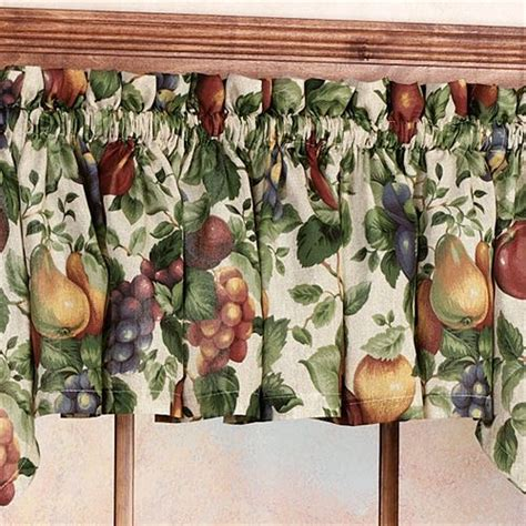fruit curtains fruit kitchen curtains fruits white 3 pc kitchen curtain