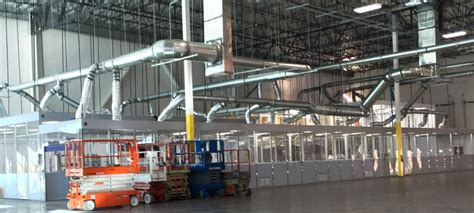 how to cool a warehouse with fans cleanroom air conditioning systems for hardwall modular