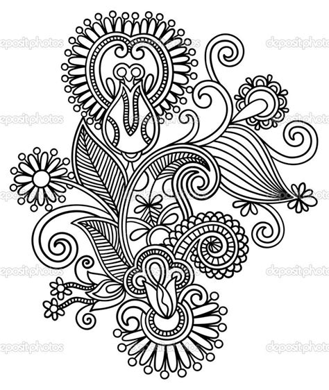 intricate floral coloring pages line art intricate intricate design coloring pages