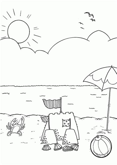 beach coloring pages preschool beach coloring pages for preschool az coloring pages