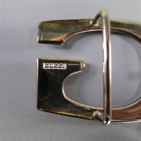 gucci 34w black and brown leather reversible gold g buckle